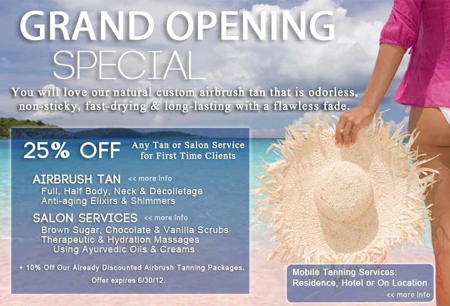 Nyc airbrush mobile tanning salon pink beach tan for 24 hour tanning salon nyc